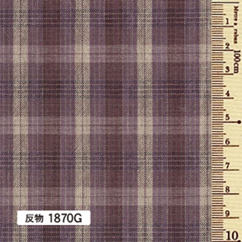 Sakizome Momen Yarn Dyed Fabric Caramel Check G 1870G