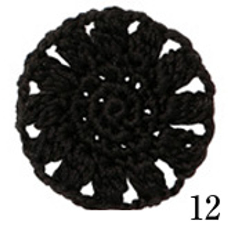 Crochet Thread Cotton Cuore Black CC-12