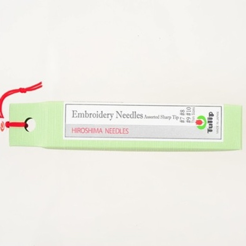 Embroidery Needles Assorted Sharp Tip Thin Sizes #7-#10 THN-024e