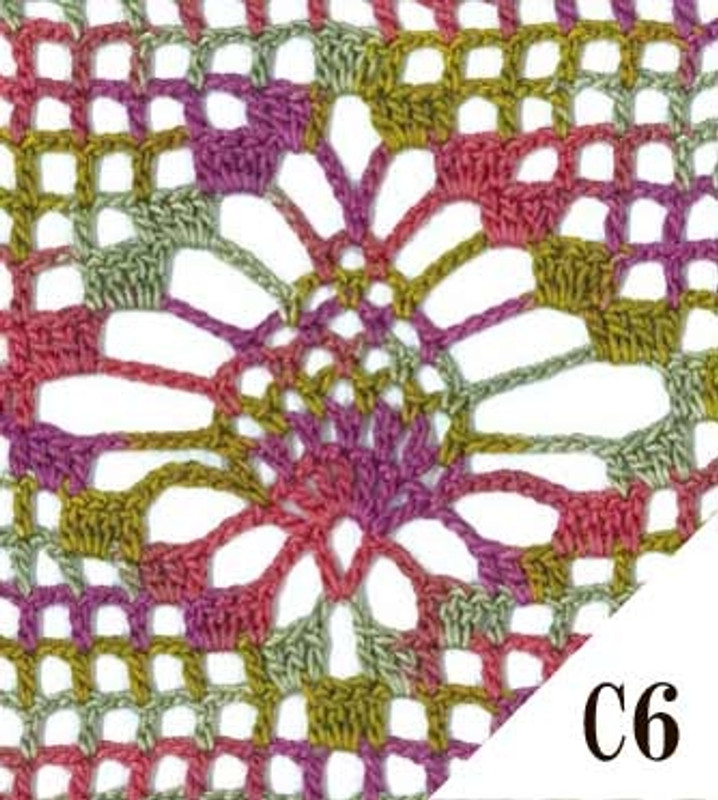 Crochet Thread Emmy Grande Colorful 25g EGCF-C6