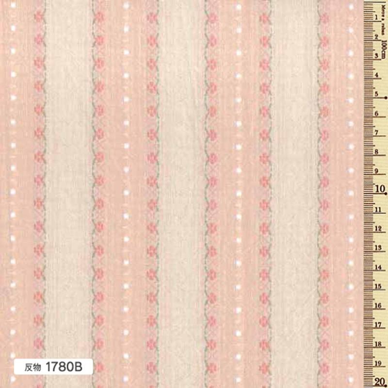 Sakizome Momen Yarn Dyed Fabric Floral Leaf B 1780B