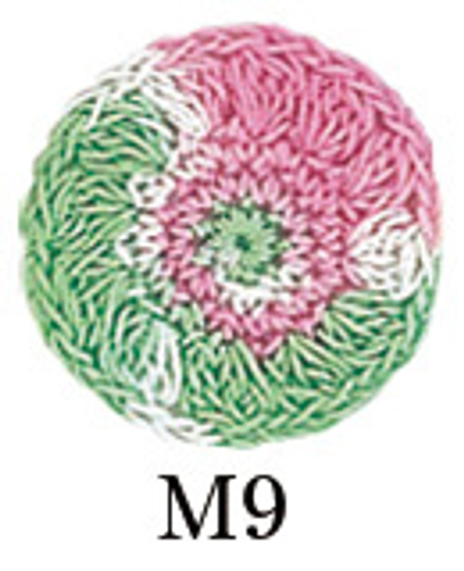 Crochet Thread Gold Label Mixed Green/Pink GL-M9