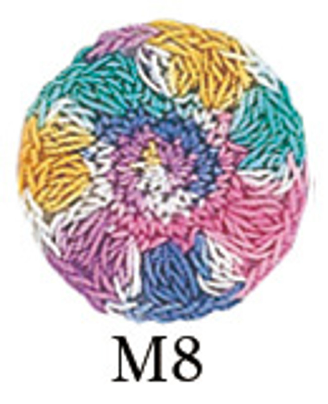 Crochet Thread Gold Label Mixed Multicoloured GL-M8