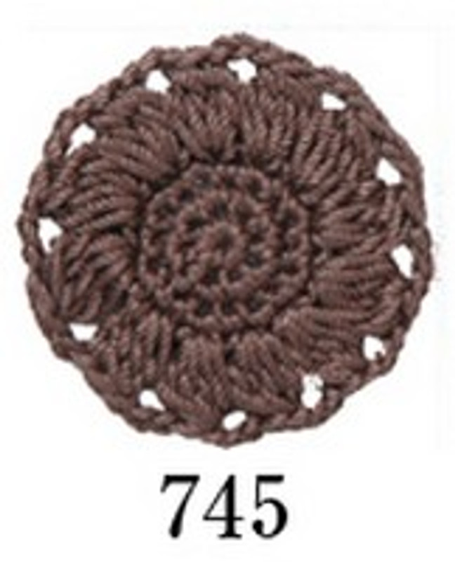 Crochet Thread Herbs Chocolate Brown EGH-745