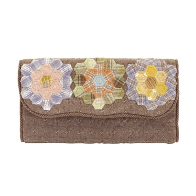 Olympus Patchwork Kit Hexagonal Flowers Wallet PA-617