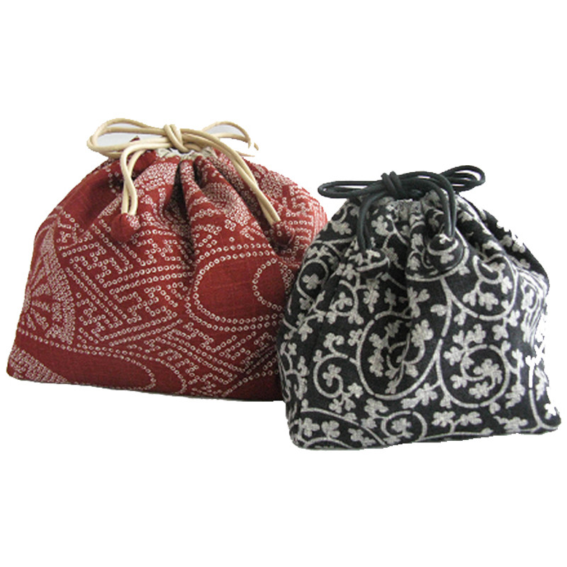 Japanese Drawstring Bags in 2 Sizes PBDR-0181