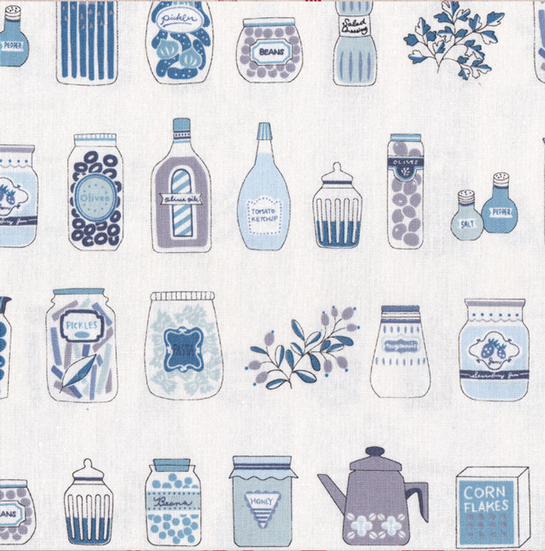 Kitchen Blue on White