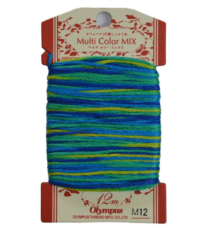 Multi-Coloured Embroidery Thread 12mt ET-M12