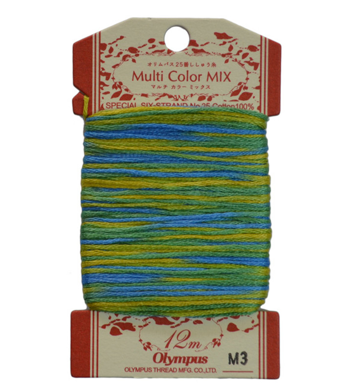 Multi-Coloured Embroidery Thread 12mt ET-M3