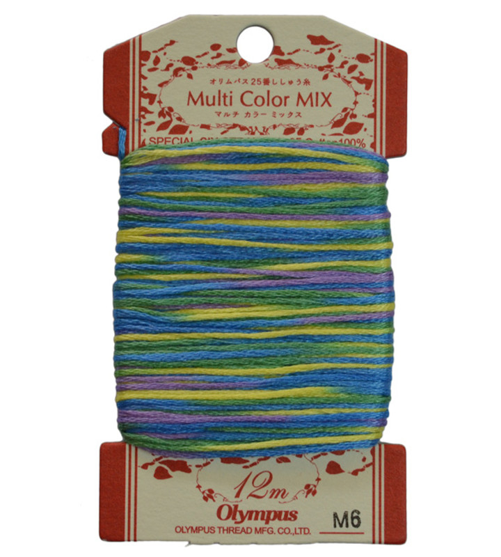 Embroidery Thread Multi-Coloured  12mt ET-M6