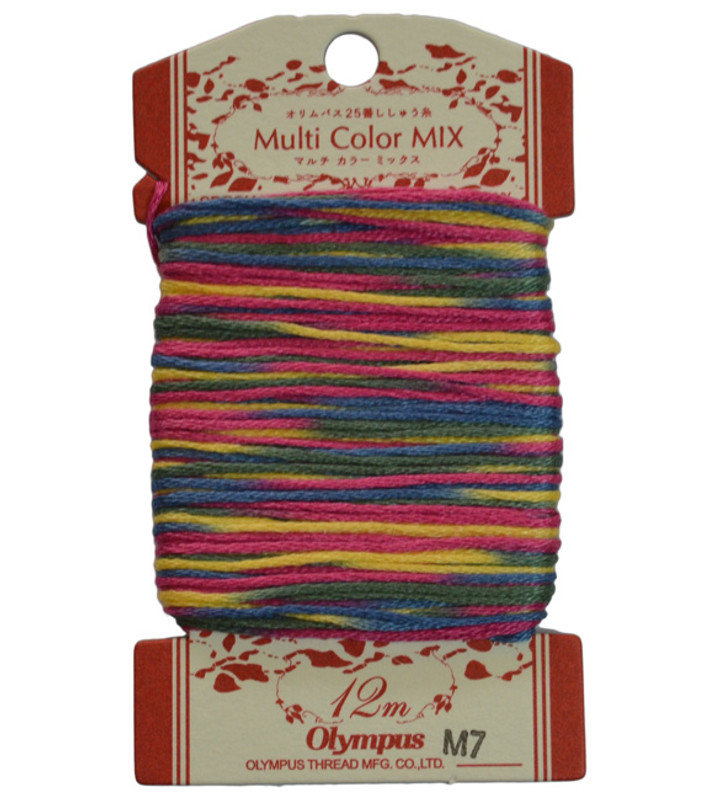 Multi-Coloured Embroidery Thread 12mt ET-M7