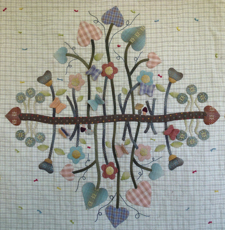 Secret Garden Appliquͩ Quilt Pattern PASG-2013