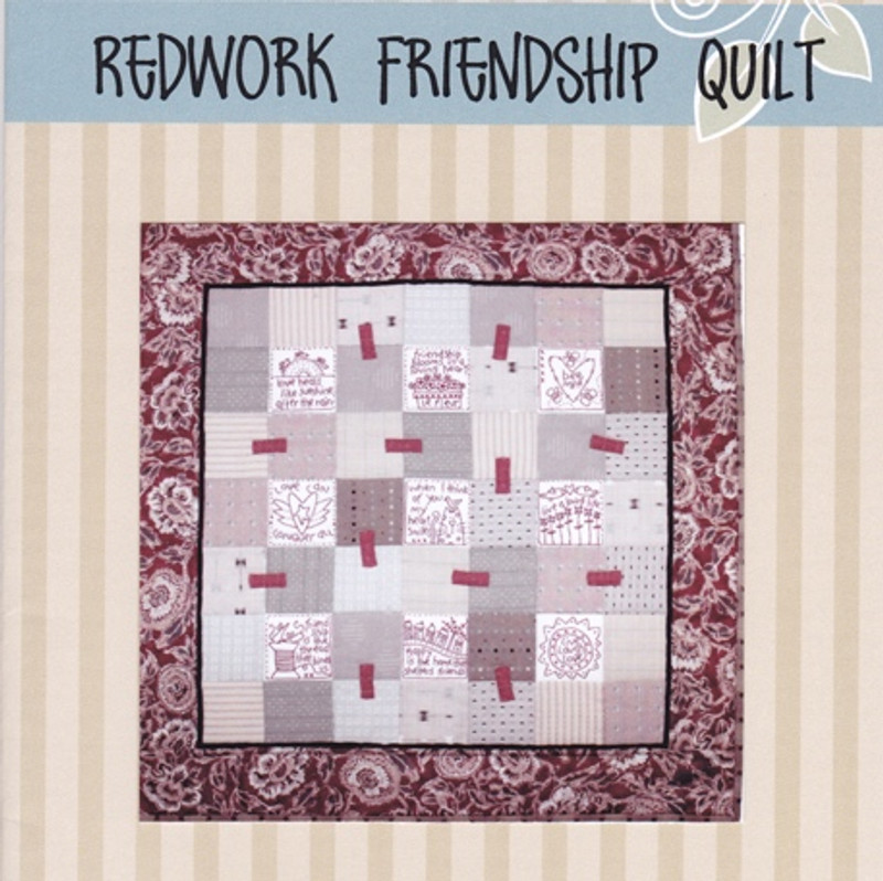 Redworked Friendship Quilt Pattern BPD-D293