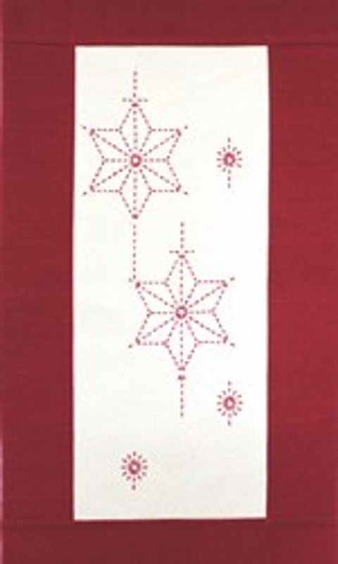 Sashiko Christmas Star Wall Hanging Kit CWH-1