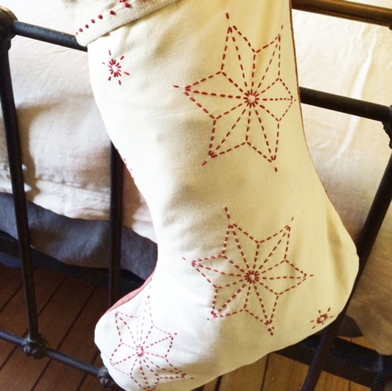 Sashiko Christmas Stocking Top Kit CSK-1015