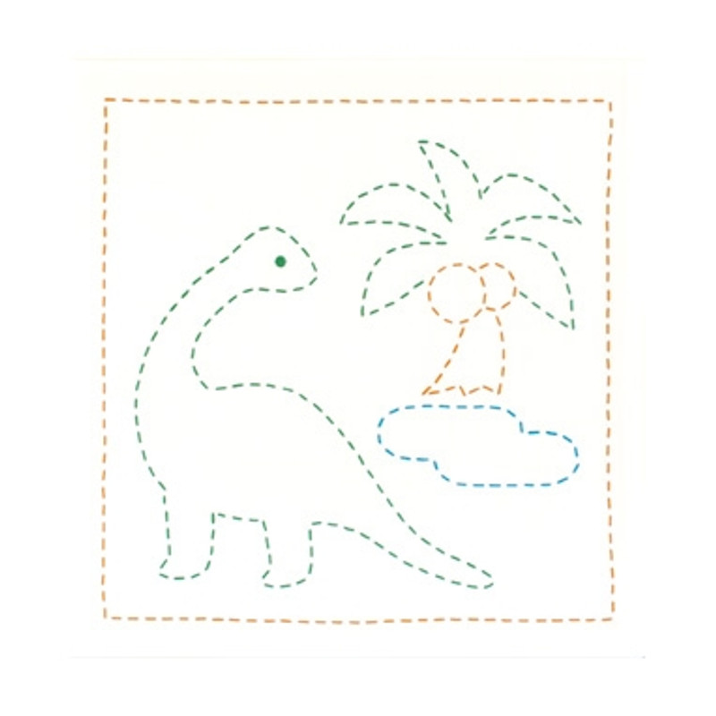 Sashiko Sampler Dinosaur SSKC-277