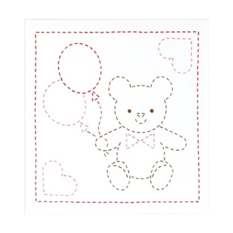 Sashiko Sampler Teddy Bear SSKC-281