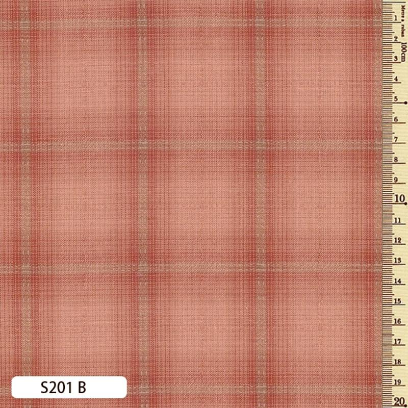 Sakizome Momen Fabric Seed Check B S201B