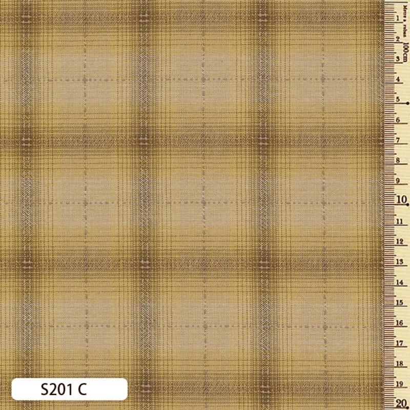 Sakizome Momen Fabric Seed Check C S201C