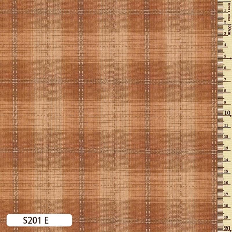 Sakizome Momen Fabric Seed Check E S201E