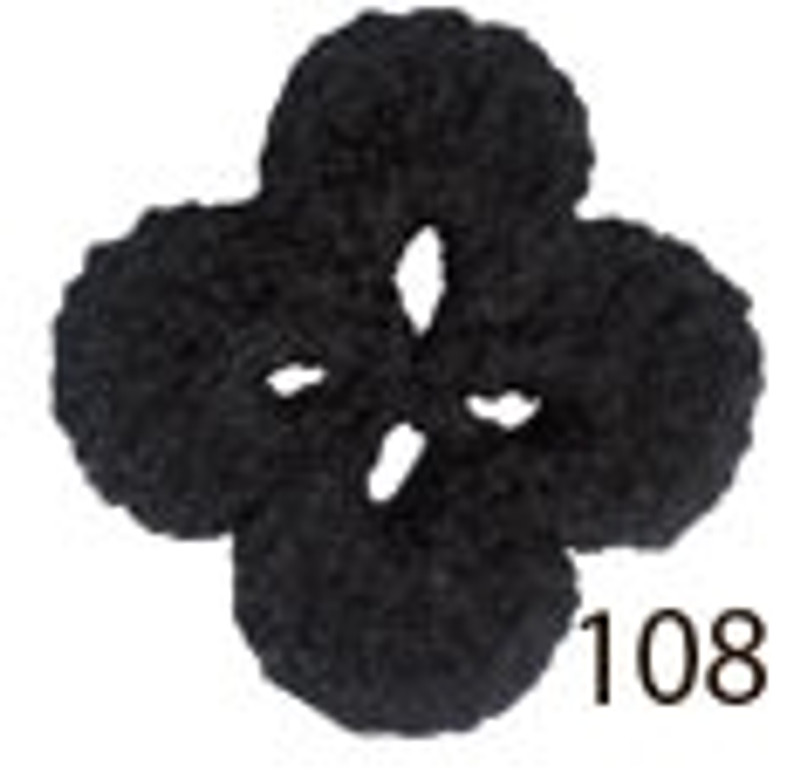 Crochet Thread Souffle Thin Black STN-108