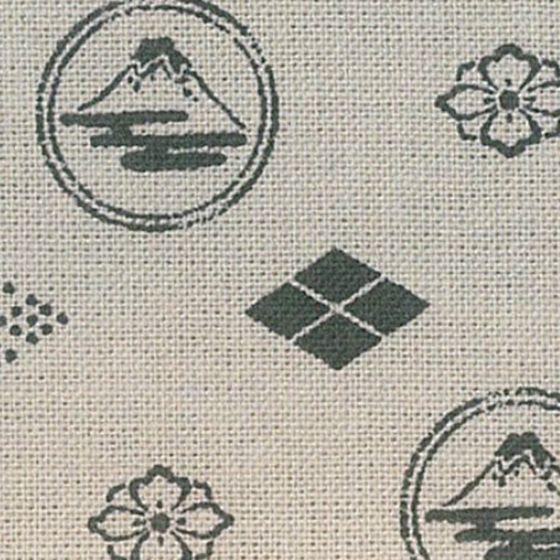 Takumi Printed Cotton Fabric Fabric Beige 13N-8D