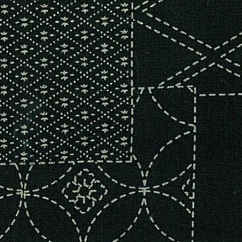 Takumi Printed Cotton Fabric Black 13N-6A