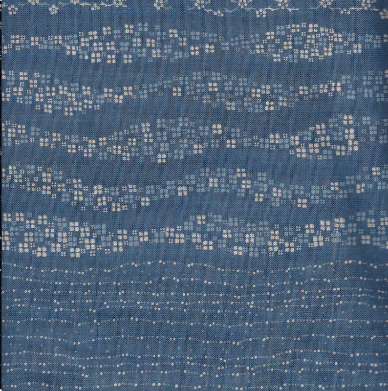 Takumi Printed Cotton Fabric Blue 14N-2C