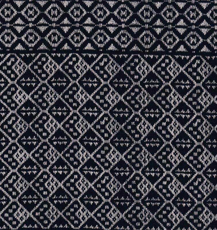 Takumi Printed Cotton Fabric Fabric Kogin Patterns Navy Blue 14N-6B