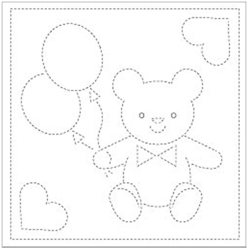 Sashiko Sampler Teddy SS-H-1008