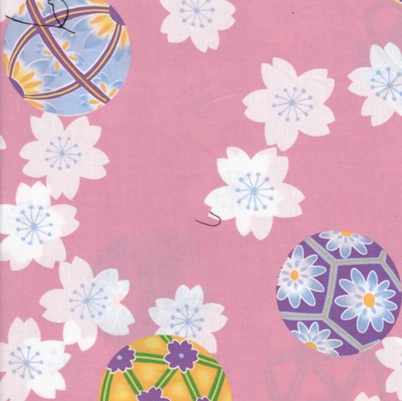 Yukata Printed Cotton Fabric Multi Coloured TY-0002