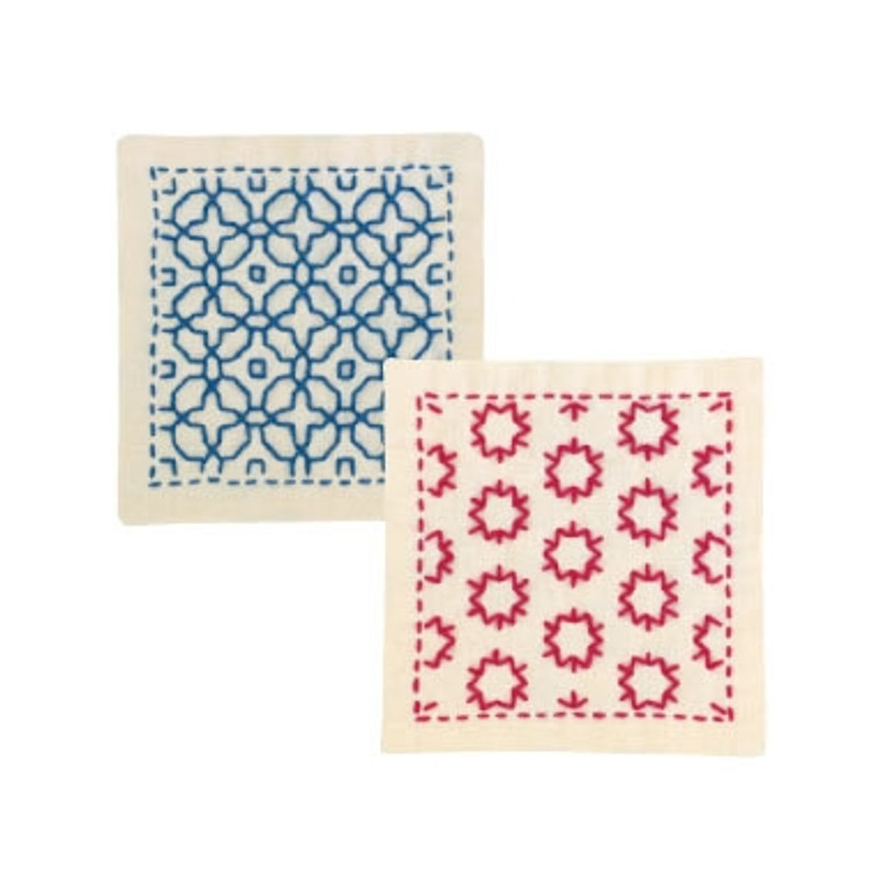 Sashiko Coaster Kit - Glory & Star Candy SK-297