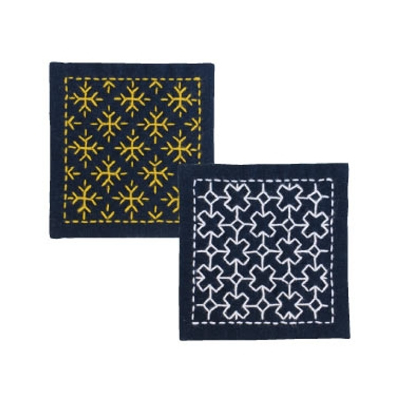 Olympus Sashiko Kit  Coaster - Snow Crystal & Cross Connection SK-300