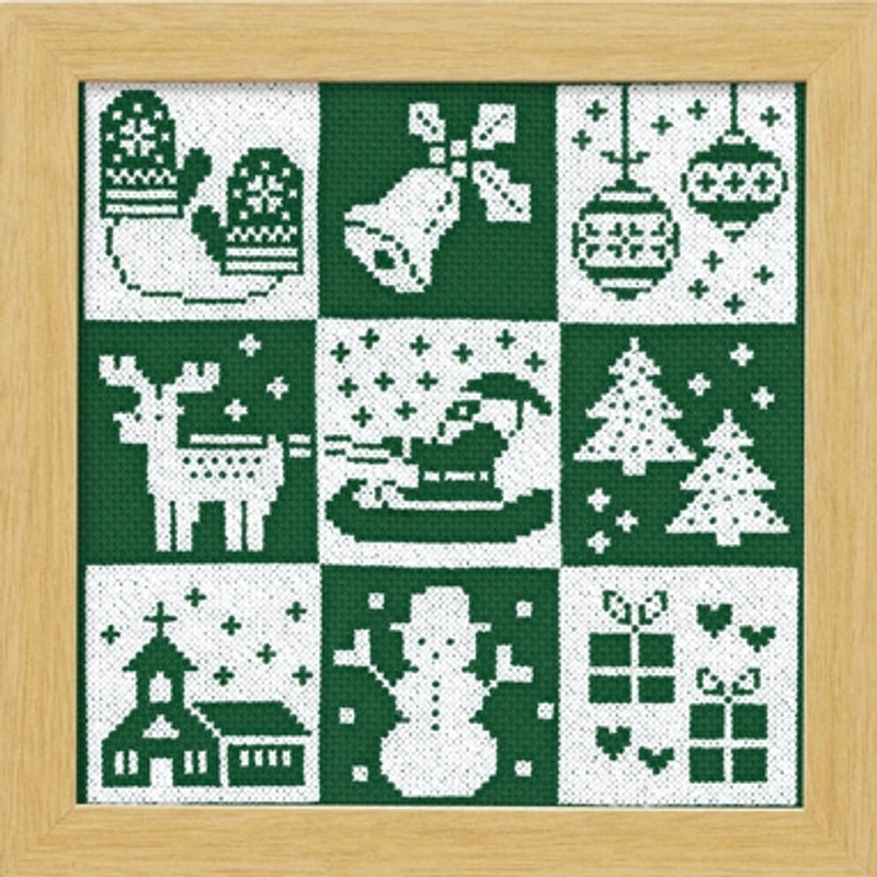 Green Festive Christmas Cross-stitch X-103