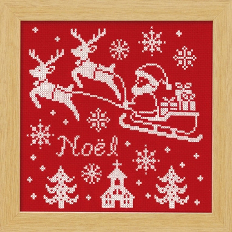 Red Reindeer Christmas Cross-stitch X-104