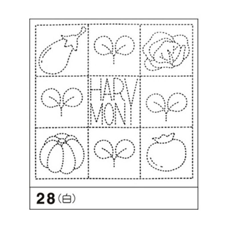 Sashiko Sampler Gardening Harmony SS-28