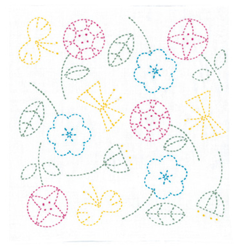 Happy Flowers & Butterflies Sashiko Kit SK-326