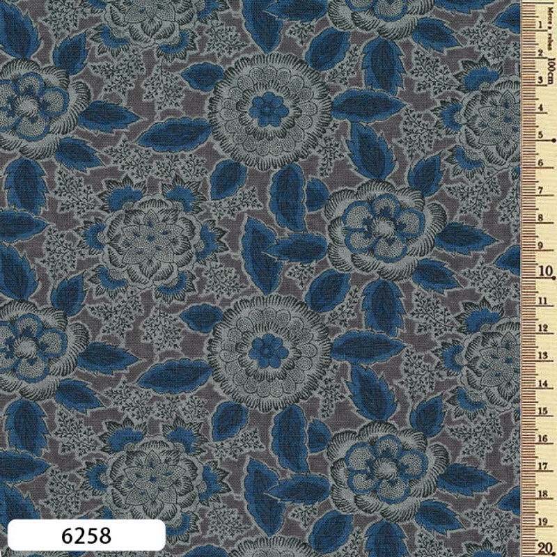 Printed Cotton Fabric Sarasa SAR-6258