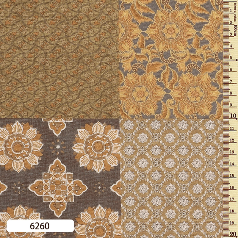 Printed Cotton Fabric Sarasa Panel SARP-6260