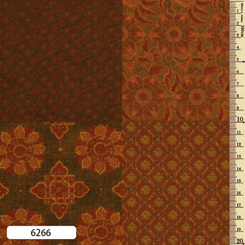 Printed Cotton Fabric Sarasa Panel SARP-6266