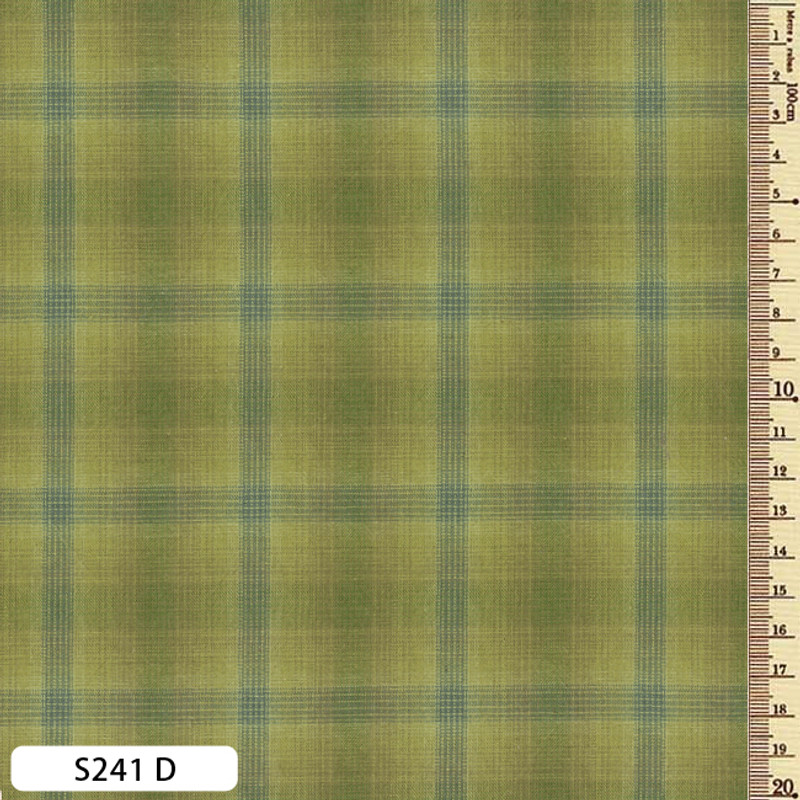 Sakizome Momen Fabric Checks S241D