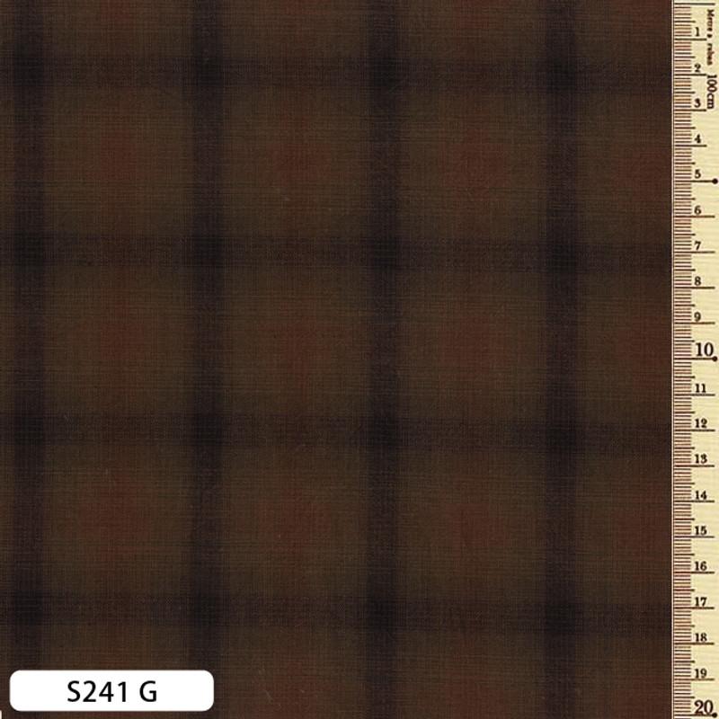 Sakizome Momen Fabric Checks S241G
