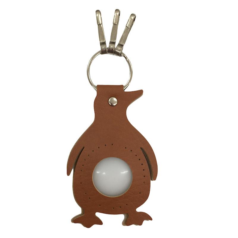 Penguin Keyring Brown
