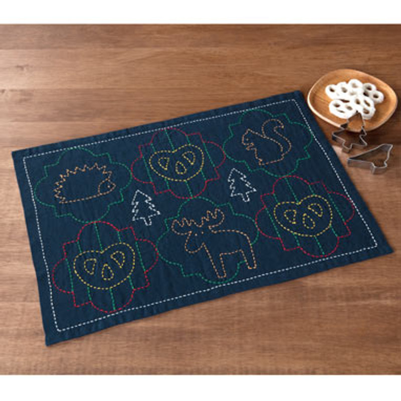 Olympus Sashiko Kit  Animals Placemat SK-347