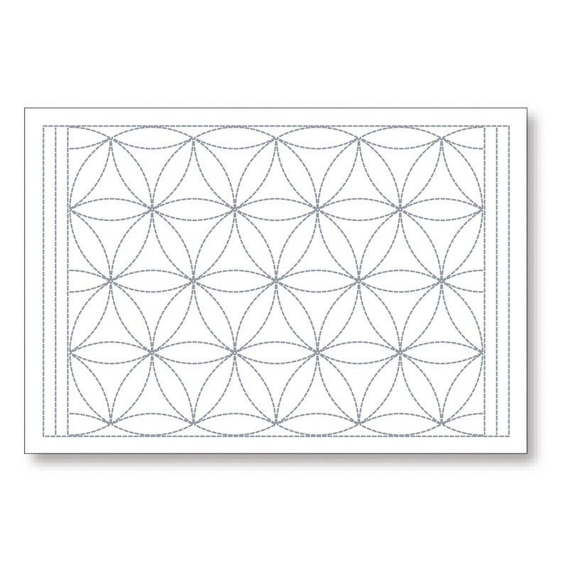 Sashiko Tumbling Flowers Placemat