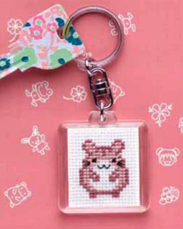 Cross Stitch Kit Key Ring Hamster KS-25