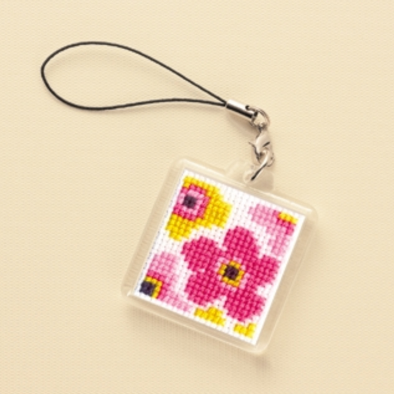 Cross Stitch Kit Strap Flowers KST-28