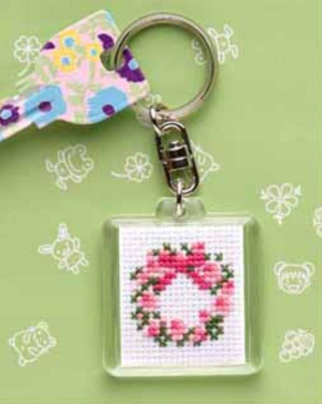 Cross Stitch Kit Key Ring Crown KS-16