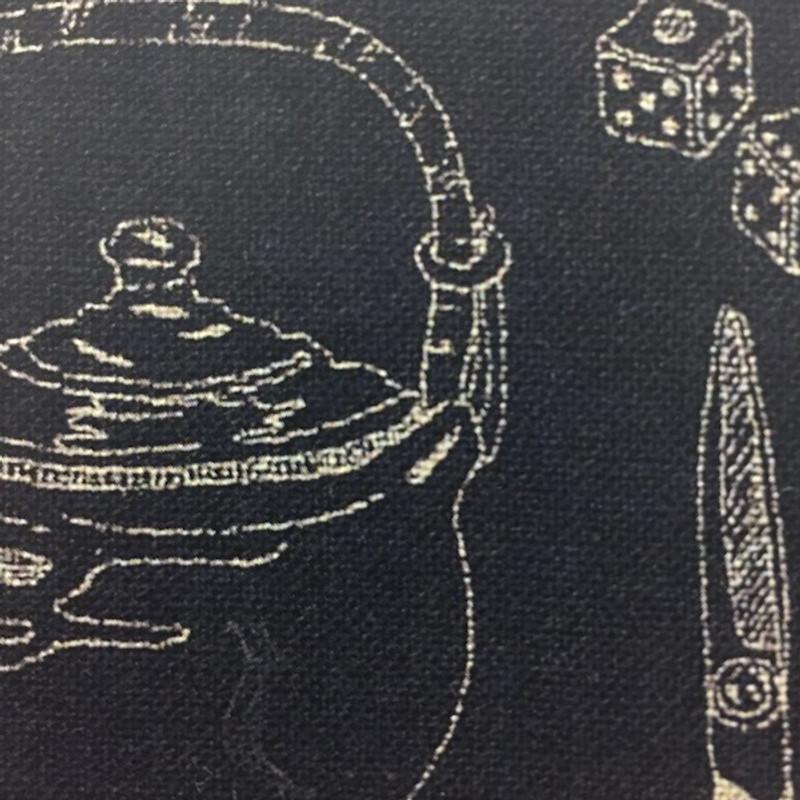 Takumi Printed Cotton Indigo Fabric 14N-8B