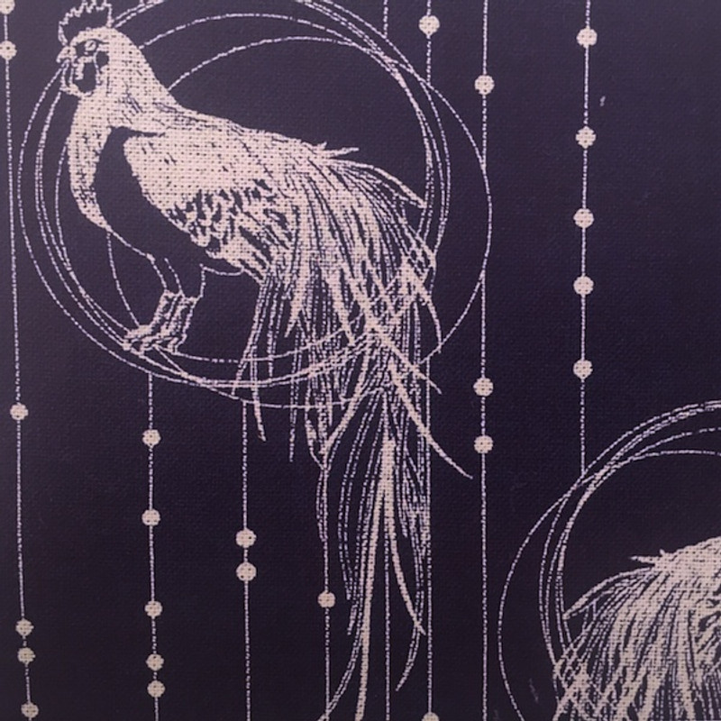Takumi Printed Cotton Fabric Indigo 16N-2B